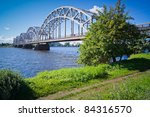 Railway Bridge Over The Daugav...