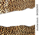 Background With Leopard Textur...