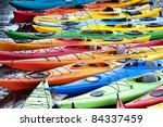 Colorful Fiberglass Kayaks...