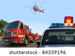fire department response   Shutterstock . vector #84339196