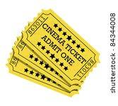 cinema ticket yellow   vector....   Shutterstock .eps vector #84344008