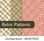 lovely retro patterns | Shutterstock .eps vector #84357952