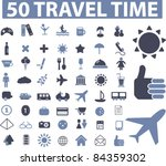 50 Travel Icons  Signs  Vector...