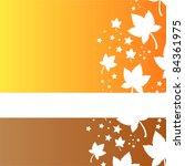 stylish autumn background | Shutterstock .eps vector #84361975