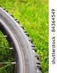 mountain bike offroad tire in... | Shutterstock . vector #84364549