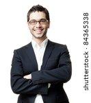 young handsome man in black... | Shutterstock . vector #84365338