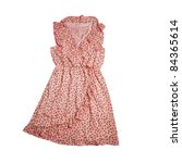 pink dress   vintage style | Shutterstock . vector #84365614