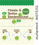 recycle bean for better... | Shutterstock .eps vector #84375151