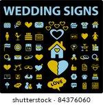 wedding icons  signs  vector... | Shutterstock .eps vector #84376060