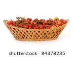 hawthorn berries in a wicker... | Shutterstock . vector #84378235