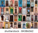 Old doors from Turkey - stock photo