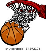 Basketball Hoop With Basketbal...