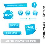 set for web  web page elements | Shutterstock .eps vector #84394045