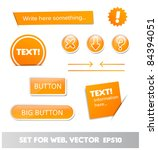 set for web  web page elements | Shutterstock .eps vector #84394051