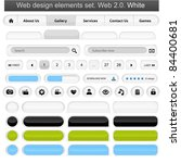 web design elements set white.... | Shutterstock .eps vector #84400681
