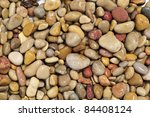 Closeup Of A Pile Of Wet Pebbles
