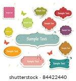 vector set of vintage frames   Shutterstock .eps vector #84422440