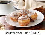 A Plate Of Mini Cinnamon Rolls...