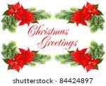 christmas greetings. red... | Shutterstock . vector #84424897