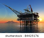 station for oil in the sea. | Shutterstock . vector #84425176