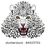 vector leopard executed in the... | Shutterstock .eps vector #84425701