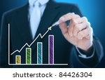 businessman writing rising... | Shutterstock . vector #84426304