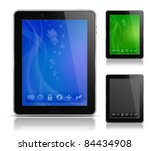 tablet pc with abstract...