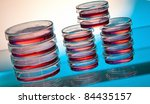 red substance in petri dish | Shutterstock . vector #84435157