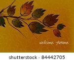 welcome autumn card | Shutterstock .eps vector #84442705