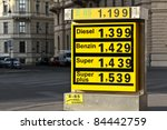 A Display Of Gas Prices In...