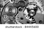 close up view of old clock's... | Shutterstock . vector #84445600