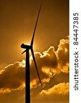 wind turbine in the back light...   Shutterstock . vector #84447385