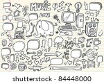 notebook doodle speech bubble... | Shutterstock .eps vector #84448000