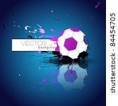 abstract style vector football...   Shutterstock .eps vector #84454705