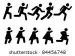 running people   vector... | Shutterstock .eps vector #84456748