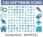 100 software interface icons ... | Shutterstock .eps vector #84459121