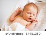 portrait of a newborn caucasian ... | Shutterstock . vector #84461350
