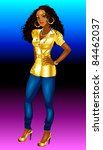 Raster version Illustration of Fashion Woman. I have many other fashion women and men also. - stock photo