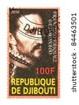djibouti   circa 2010  a stamp... | Shutterstock . vector #84463501