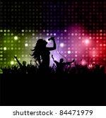 silhouette of a female singer... | Shutterstock .eps vector #84471979