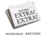 newspaper headline extra extra... | Shutterstock . vector #84472090