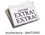 newspaper headline extra extra...   Shutterstock . vector #84472090