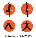 yoga   Shutterstock .eps vector #84475585