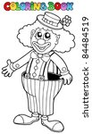Coloring Book With Happy Clown...