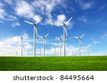 ecology   wind power | Shutterstock . vector #84495664