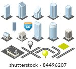 isometric map toolkit downtown | Shutterstock .eps vector #84496207