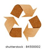 recycle logo from recycle paper ...   Shutterstock . vector #84500002