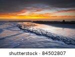 folly beach ocean sunset... | Shutterstock . vector #84502807