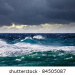 high sea wave during storm at ... | Shutterstock . vector #84505087