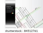Blueprint background - stock vector